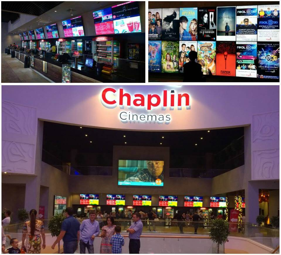 Digital Signage в кинотеатрах Chaplin Cinemas от iDMC.com.ua