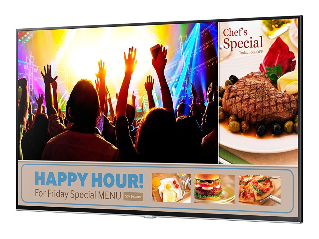Digital Signage happy hour